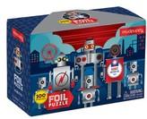 Chronicle Books Boy's Robotics Illustrated 100-Piece Foil Puzzle