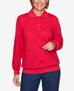 Alfred Dunner Women's Plus Size Classics Jacquard T-shirt