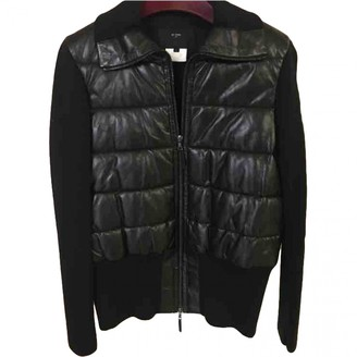 Et Vous Black Leather Leather Jacket for Women