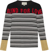 Gucci Blind for Love striped knit top - women - Silk/Viscose/Cashmere/Metallized Polyester - S