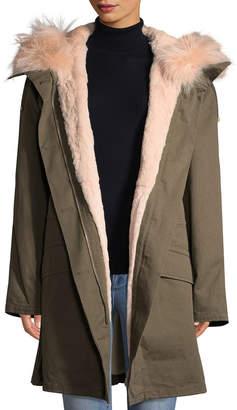 Yves Salomon Hooded Coat