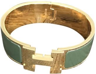Hermã ̈S HermAs Clic H Green Metal Bracelets