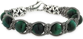 Emanuele Bicocchi Beaded Green Tiger Eye Bracelet