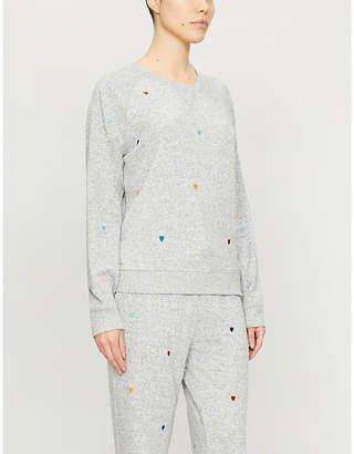 Rails Mika heart-print knitted sweatshirt