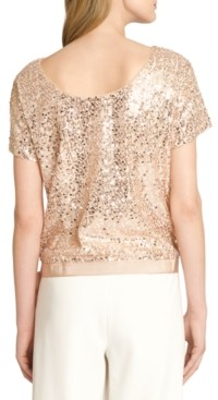 Tahari ASL Sequin Top