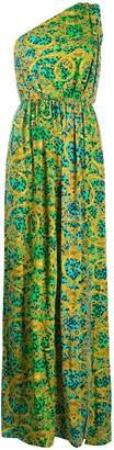 Versace brocade print maxi dress