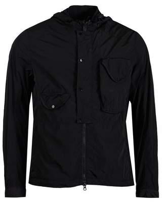 C.P. Company Chrome Hooded Over Shirt Colour: BLACK, Size: MEDIUM
