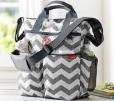Pottery Barn Kids Gray Chevron Skip Hop Duo Diaper Bag