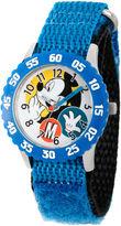 Disney Mickey Mouse Boys Blue Strap Watch-Wds000156