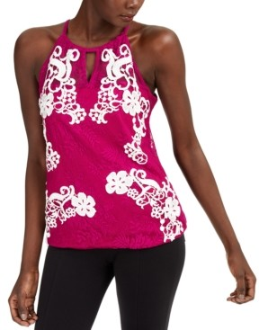 INC International Concepts Inc Sheer Lace Top, Created for Macy's