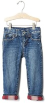 Gap babyGap + Pendleton flannel-lined straight jeans