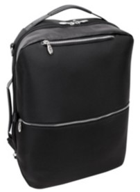 """McKlein East Side 17"""" Nylon 2-In-1 Laptop Tablet Convertible Travel Backpack Cross-Body"""