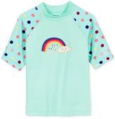 Roxy Rainbow & Dot Short-Sleeve Rashguard, Little Girls (2-6X)