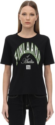 Aalto Printed Cotton T-shirt