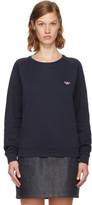 MAISON KITSUNÉ Navy Tricolor Fox Patch Sweatshirt