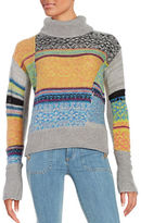 Free People Cowlneck Colorblocked Sweater