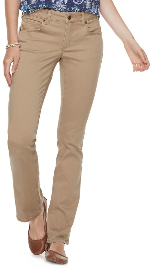 picked up new varieties affordable price Khaki Bootcut Pants Women - ShopStyle
