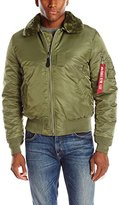 Alpha Industries Men's B-15 Slim-Fit Bomber Flight Jacket