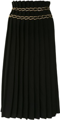 Dion Lee Chain-Embellished Pleated Skirt