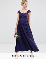 Asos WEDDING Lace Insert Cowl Maxi Dress
