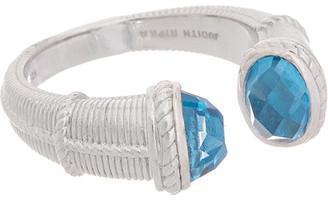 Judith Ripka Little Luxuries Silver 3.05 Ct. Tw. Swiss Blue Topaz Ring