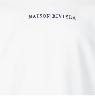 River Island Boys Maison Riviera Tape T-shirt -White