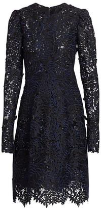 J. Mendel Leaf Applique Cocktail Dress