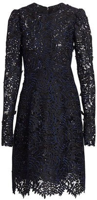 J. Mendel Leaf Applique Cocktail Dress