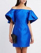 Charlotte Russe Off-The-Shoulder Sheath Dress