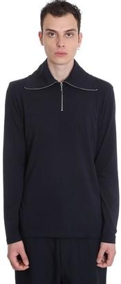 Jil Sander Knitwear In Blue Cotton