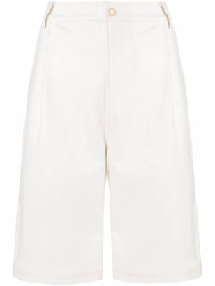 Dion Lee Vented Pleat Shorts
