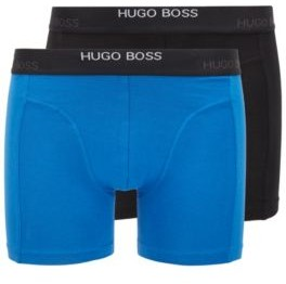 HUGO BOSS Two Pack Of Stretch Cotton Boxer Briefs - Light Blue