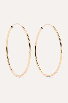 Loren Stewart Net Sustain Infinity 14-karat Gold Hoop Earrings
