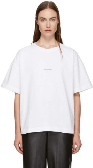 Acne Studios White Stellie Logo T-Shirt