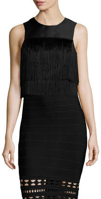 Shoshanna Sleeveless Fringe Top