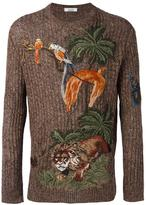Valentino jungle embroidered jumper - men - Cotton/Linen/Flax/Polyamide/Polyester - M