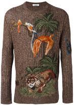 Valentino jungle embroidered jumper