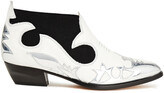 Thumbnail for your product : MSGM Metallic Patent And Smooth Leather Ankle Boots