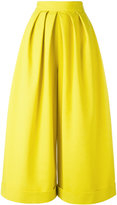 DELPOZO pleated palazzo trousers - women - Cotton/Viscose - 38