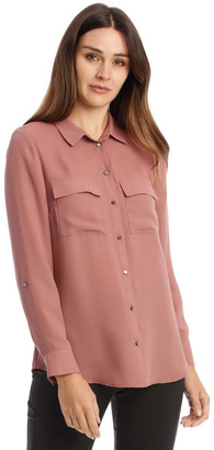 Basque Double Pocket Shirt Rose