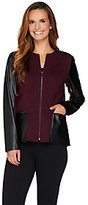 As Is Kelly by Clinton Kelly Ponte Jacket w/Faux Leather Details