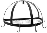 Rogar Half Dome Pot Rack With Grid Shelf