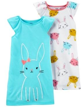 Carter's Big Girls 2-Pack Bunny Nightgown Set