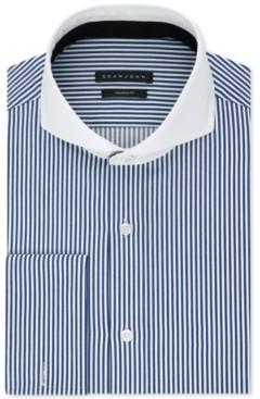 Sean John Men's Classic/Regular Fit Performance Stretch Stripe French Cuff Dress Shirt