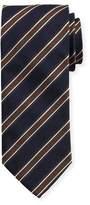 Eton Woven Twill Stripe Silk Tie, Blue
