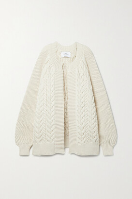 Mr. Mittens Cable-knit Wool Cardigan