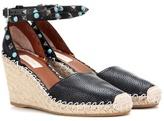 Valentino Garavani Rockstud Rolling leather wedge espadrilles