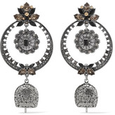 Alexander McQueen Silver-tone Crystal And Bead Earrings - one size