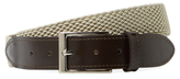 Isaia Leather & Textile Square Buckle Belt