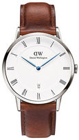 Daniel Wellington Dapper St Mawes Stainless Steel and Leather Strap Watch, 38mm